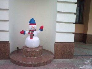 Фото: У Полтаві багато сніговиків
