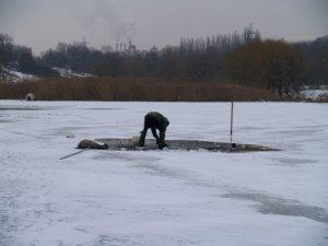 Фото: Зимові риболови в Полтаві активізували свою діяльність