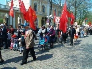 Фото: Полтавці відзначили Перше травня парадом