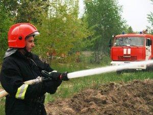 Як пожежники та журналісти гасили вогонь під Полтавою