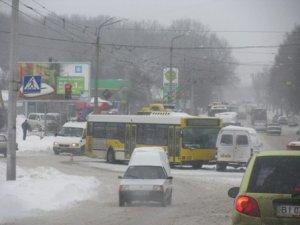 Фото: Про сніг в Полтаві вустами чиновників, водіїв та пішоходів