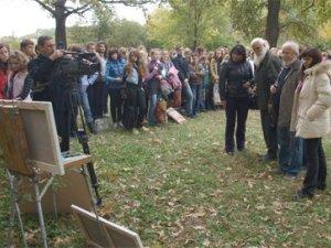 Фото: У Полтаві акція: Купи картину - допоможи дендропарку