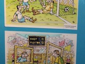 Фото: У Полтаві до Дня сміху відкрили виставку карикатур