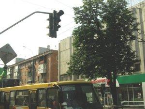 Фото: Я-Репортер. У  центрі Полтави не працює світлофор