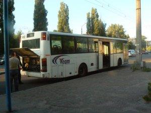 Фото: У Полтаві кільцеві автобуси блокували рух іншого транспорту