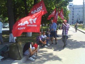 Фото: Полтавці знову мітингують проти закону про мову (фото)