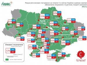 Фото: У Полтаві експрес-тест виявив хворих на гепатит С. Ситуація по Україні (карта)