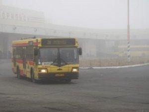 Фото: До Полтави через туман запізнюються міжміські автобуси