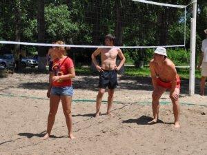 Фото: На пляжі у Полтаві провели замагання з волейболу (+ фото)