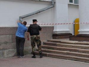 Фото: Поштамт у Полтаві евакуювали, навколо чергують СБУшники та рятувальники (+ фото)