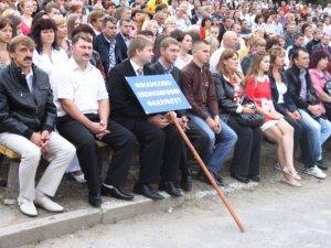 Фото: Полтавських студентів техуніверситету вразила промова Бориса Галушка