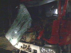 Фото: На Полтавщині зіштовхнулись три вантажівки (фото, карта)