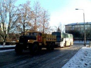 Фото: На Полтавщині рятувальники відбуксирували пасажирський автобус, який поламався під час руху (відео)