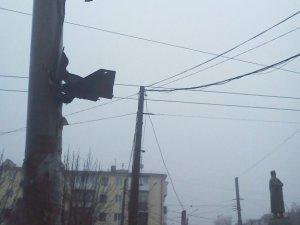 Фото: У Полтаві на площі Зигіна зник один зі світлофорів для пішоходів (фото)