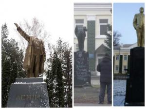 Фото: Міліція вважає, що голови пам'ятникам Леніну в Машівці і Гребінці знесли різні люди