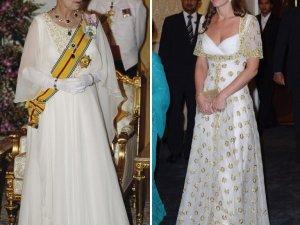 Фото: Дружина принца Вільяма Кейт Міддлтон на звану вечерю надягла діаманти Єлизавети ІІ