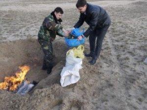 Фото: У Полтаві СБУшники знищили більше 5 кг марихуани