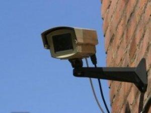 Фото: На вулиці Леніна у Полтаві викрали камеру відеоспостереження одного із банків