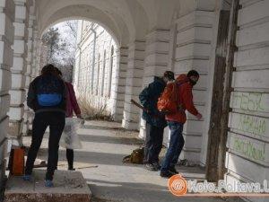 Фото: У Полтаві призначили друге прибирання Кадетського корпусу