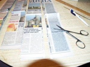 Фото: Корзинка з газет