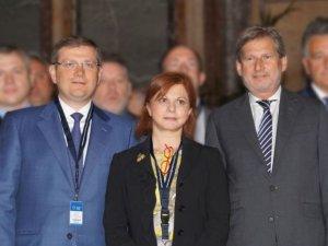 Фото: Вілкул у Брюселі зустрівся з Йоханнесом Ханом и Ханде Базатлі