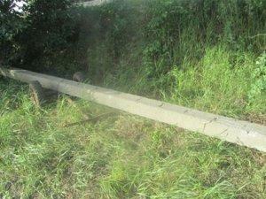 Фото: На Полтавщині з поля намагались викрасти телефонний стовп