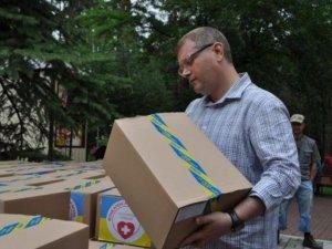 Фото: Вілкул доставив в Донецьку область гуманітарну допомогу в табори біженців