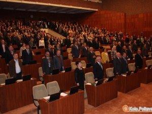 Фото: На сесії Полтавської облради сварилися через землю