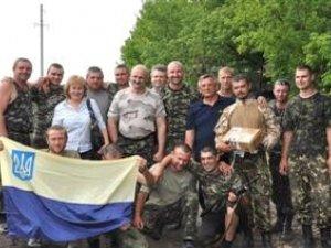 Фото: Голова Полтавської обласної ради навідав полтавців у зоні АТО