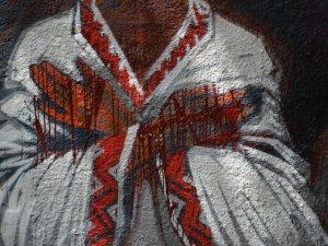 Фото: Українофоби у Полтаві облили фарбою графіті-меморіал пам'яті Героїв Небесної сотні