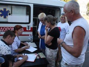 Фото: Півтори сотні полтавців пройшли тест на гепатит
