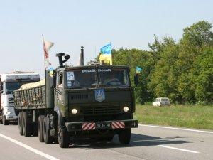 Фото: Полтавські рятувальники повезли 25 тонн продовольчої допомоги мешканцям Луганщини