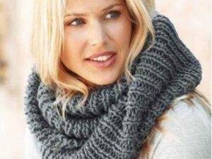 Фото: Як носити шарф-хомут або снуд: поради і фото
