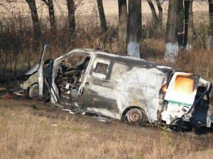 Фото: Відео та фото інкасаторського авто, яке обстріляли з гранатомета на Полтавщині