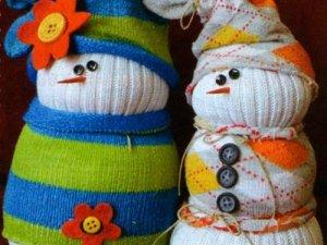 Фото: Готуємось до зими.Сніговик із шкарпеток