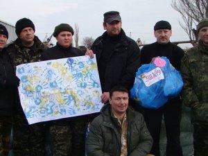 Полтавські міліціонери з'їздили із привітанням до колег в АТО