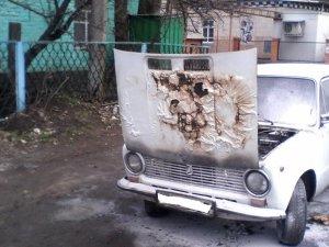 У Лохвиці ледь не згоріло легкове авто
