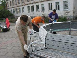 Фото: Свято праці у Полтаві: прибирали оглядовий майданчик