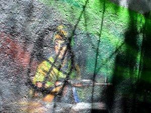 Фото: Графіті-меморіал пам'яті борців за незалежність України знову обмалювали (фото)