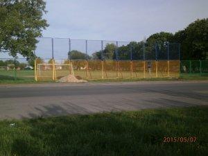 Фото: На Полтавщині на футбольному полі встановили патріотичні ворота