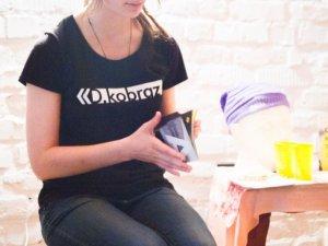 Фото: Рівненська аудіо-поетеса читала свої вірші для полтавців