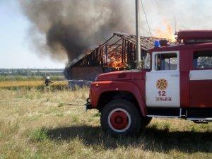 Фото: На Полтавщині згоріла ферма