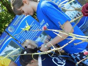 Фото: Полтавці на ярмарку можуть долучитись до плетіння гобелену для батальйону (фото)