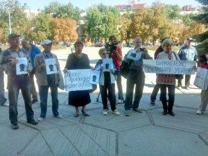 Фото: Полтавці вшанували пам'ять журналіста Гонгадзе