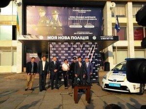 Фото: Міністр Аваков не зміг приїхати на відкриття набору до патрульної поліції в Кременчуці