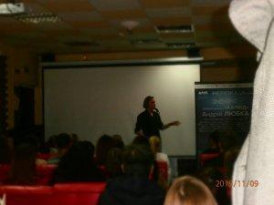 Фото: Ужгородський поет Андрій Любка презентував у Полтаві роман «Карбід»