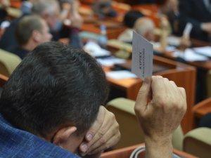 Фото: Чотири фракції заявили про фальсифікації в Полтавській облраді