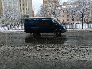 Фото: Зима до Полтави прийшла з відлигою: фоторепортаж