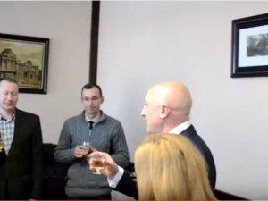 Фото: Рік на посаді очільника Полтавщини: замість відповіді на запитання про недовіру Головко пив шампанське (Відео)