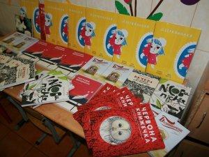 Фото: Київське видавництво подарувало полтавській малечі «книжки під подушку»